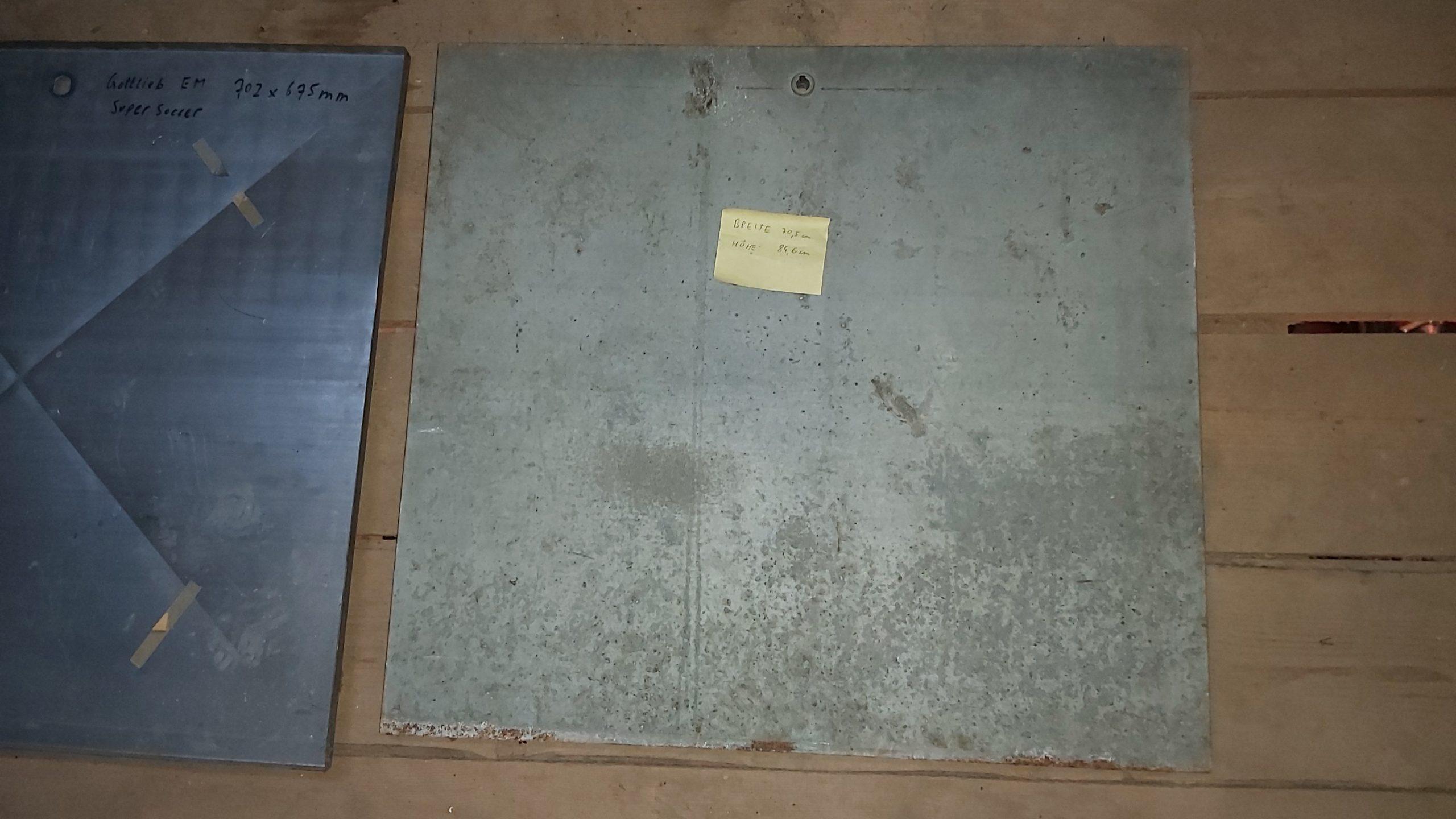 3 Stück originale EM Flipper Backbox Rückwände aus Blech